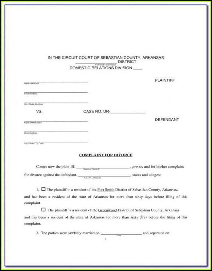 Free Arkansas Divorce Forms Online