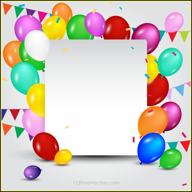 Free Birthday Card Template Download