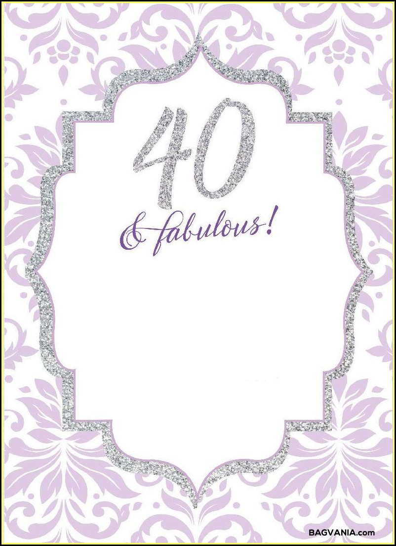 Free Birthday Invitation Templates For Adults