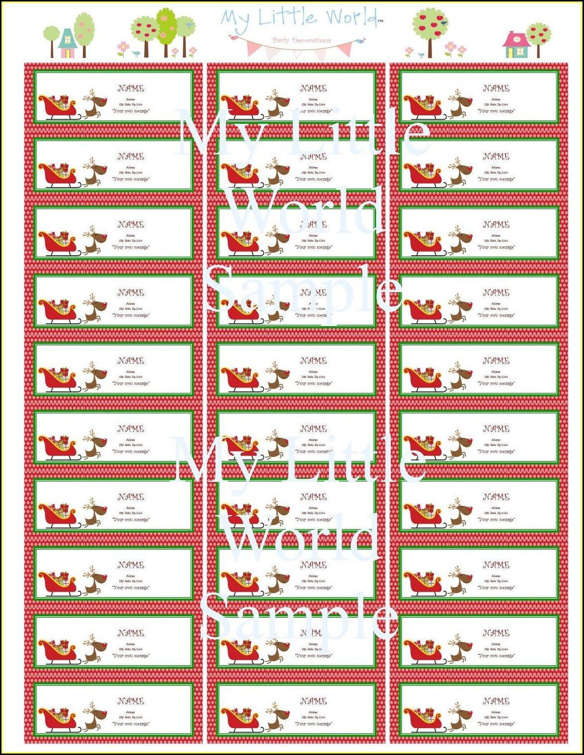 Free Christmas Address Label Templates