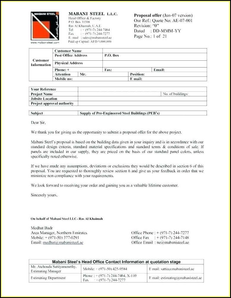 Free Commercial Cleaning Quote Template