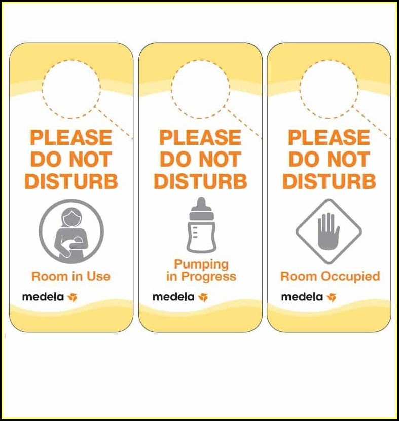Free Door Hanger Templates