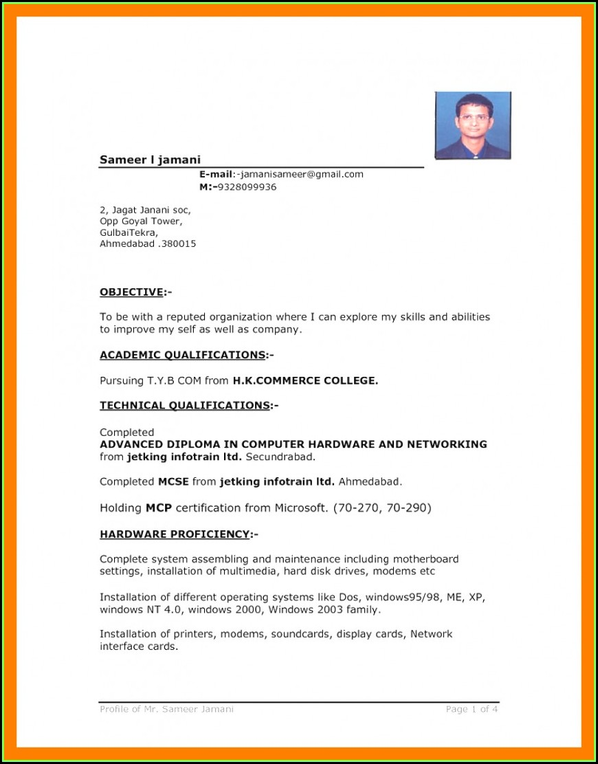 Free Download Resume Templates For Microsoft Word 2007