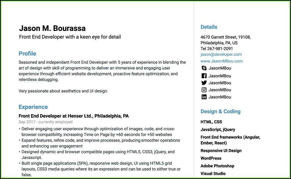 Free Easy Online Resume Builder
