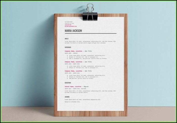 Free Easy Resume Template Word