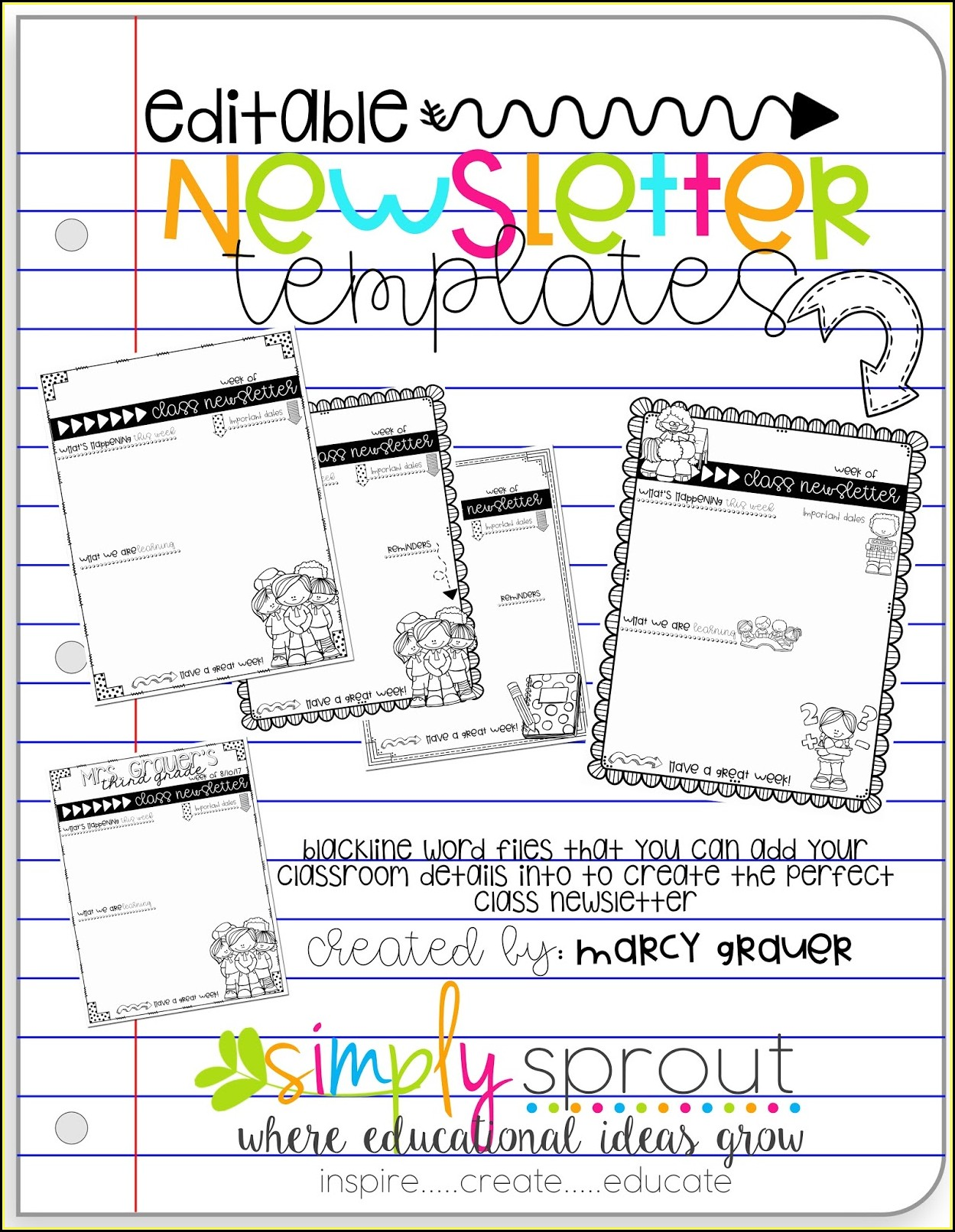 Free Elementary Class Newsletter Template