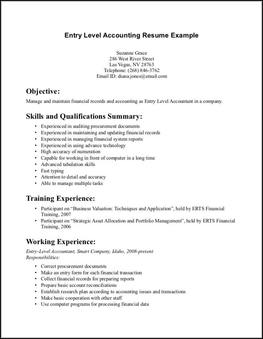 Free Entry Level Resume Templates
