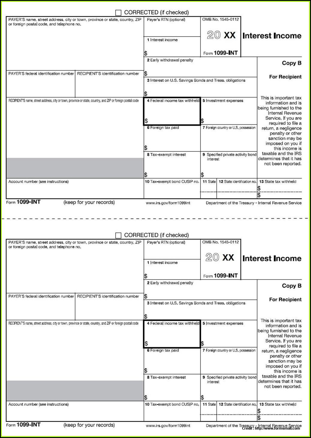Free Fillable 1099 Form