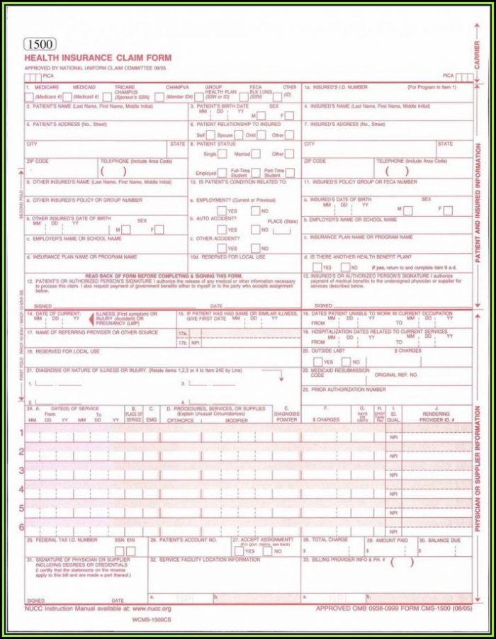 Free Hcfa 1500 Form Pdf
