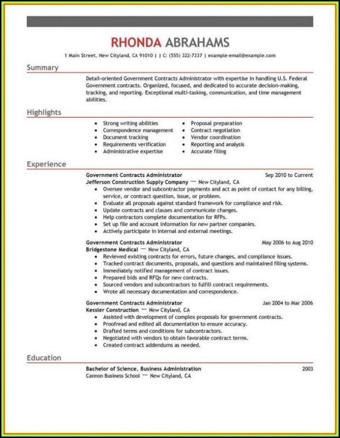 Free Military Resume Templates