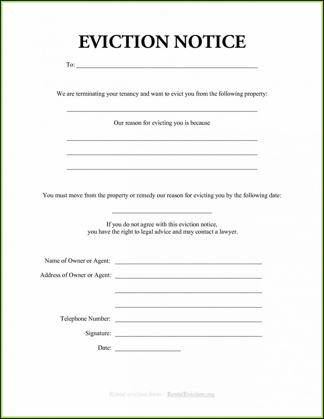 Free New York State Eviction Notice Form
