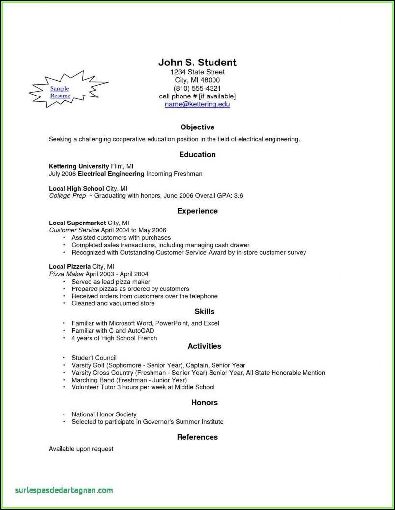 Free Online Resume Builder Printable