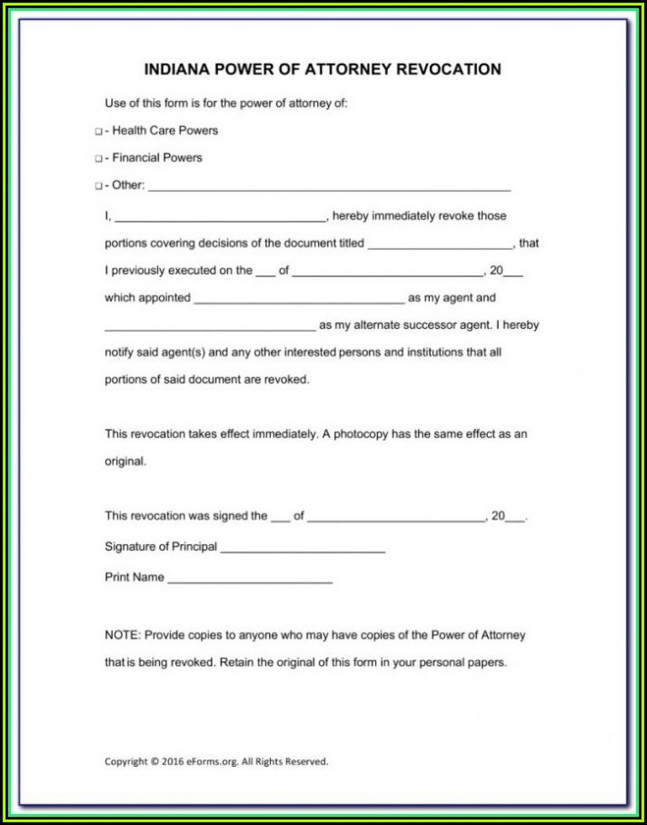 Free Power Of Attorney Form Virginia