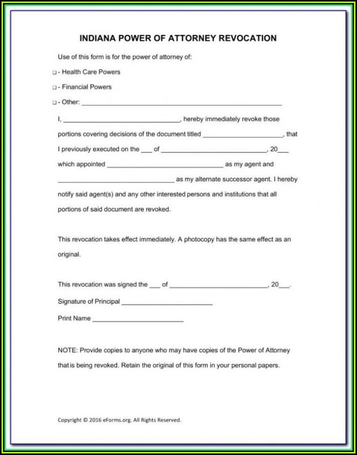 Free Power Of Attorney Form Virginia