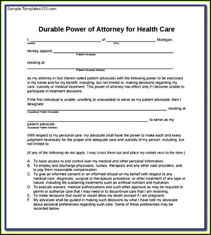 Free Printable Power Of Attorney Form Virginia