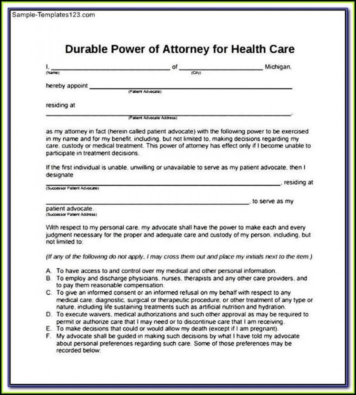 Free Printable Power Of Attorney Form Virginia