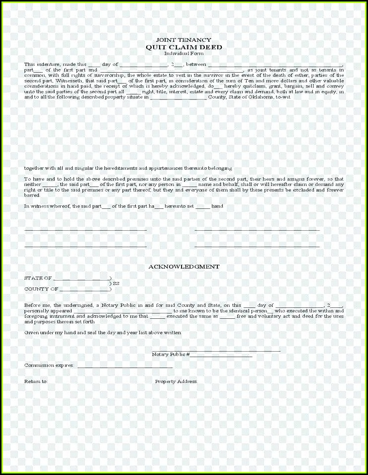 Free Printable Quit Claim Deed Form California