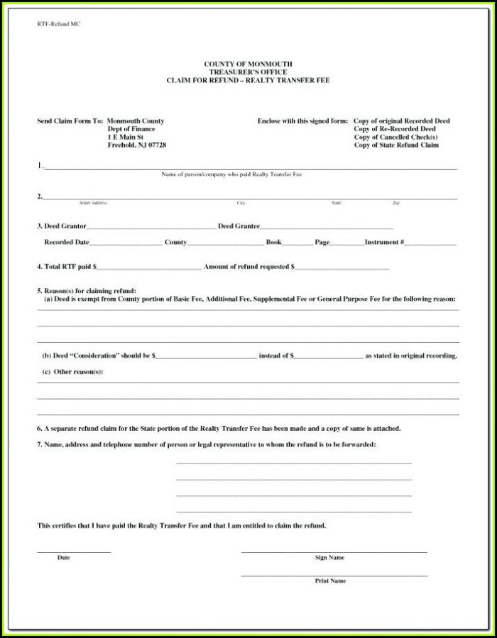 Free Printable Quit Claim Deed Form Florida