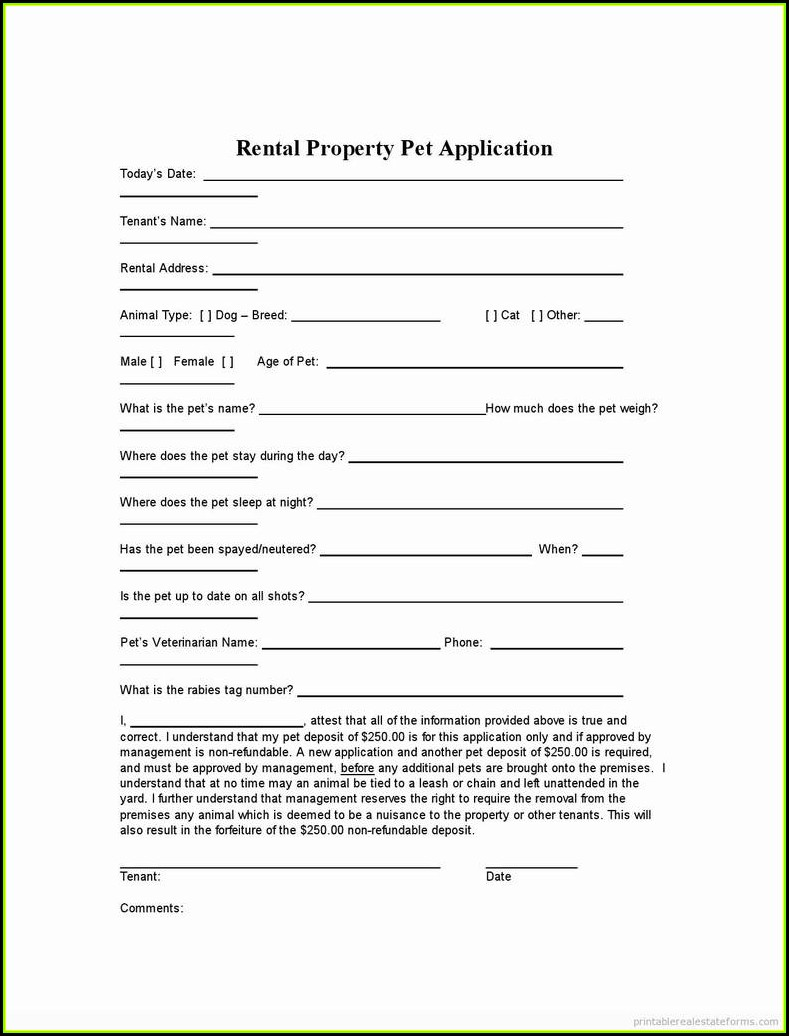 Free Printable Rental Agreement Form California