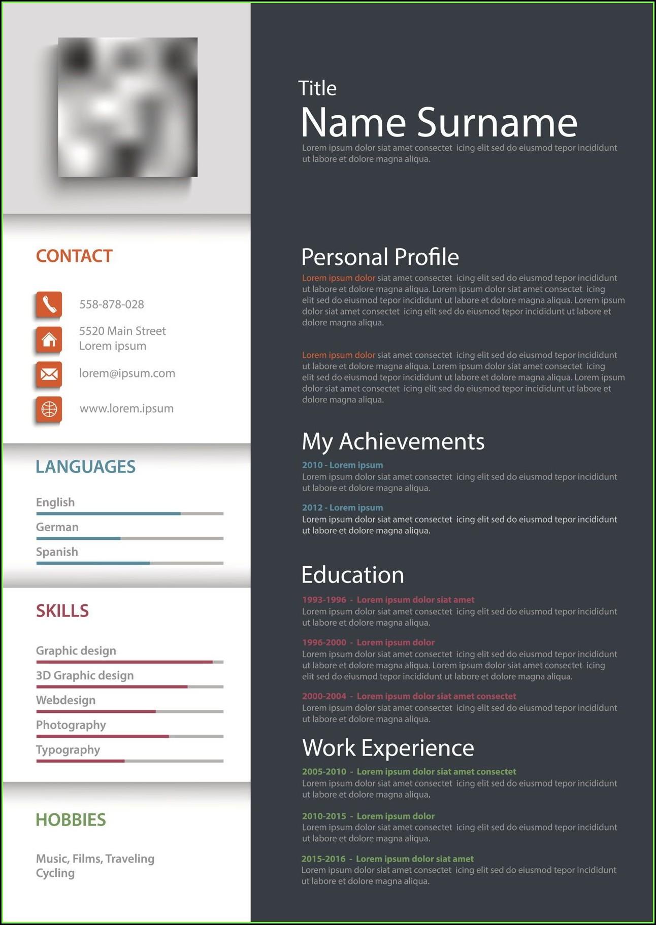 Free Printable Resume Forms