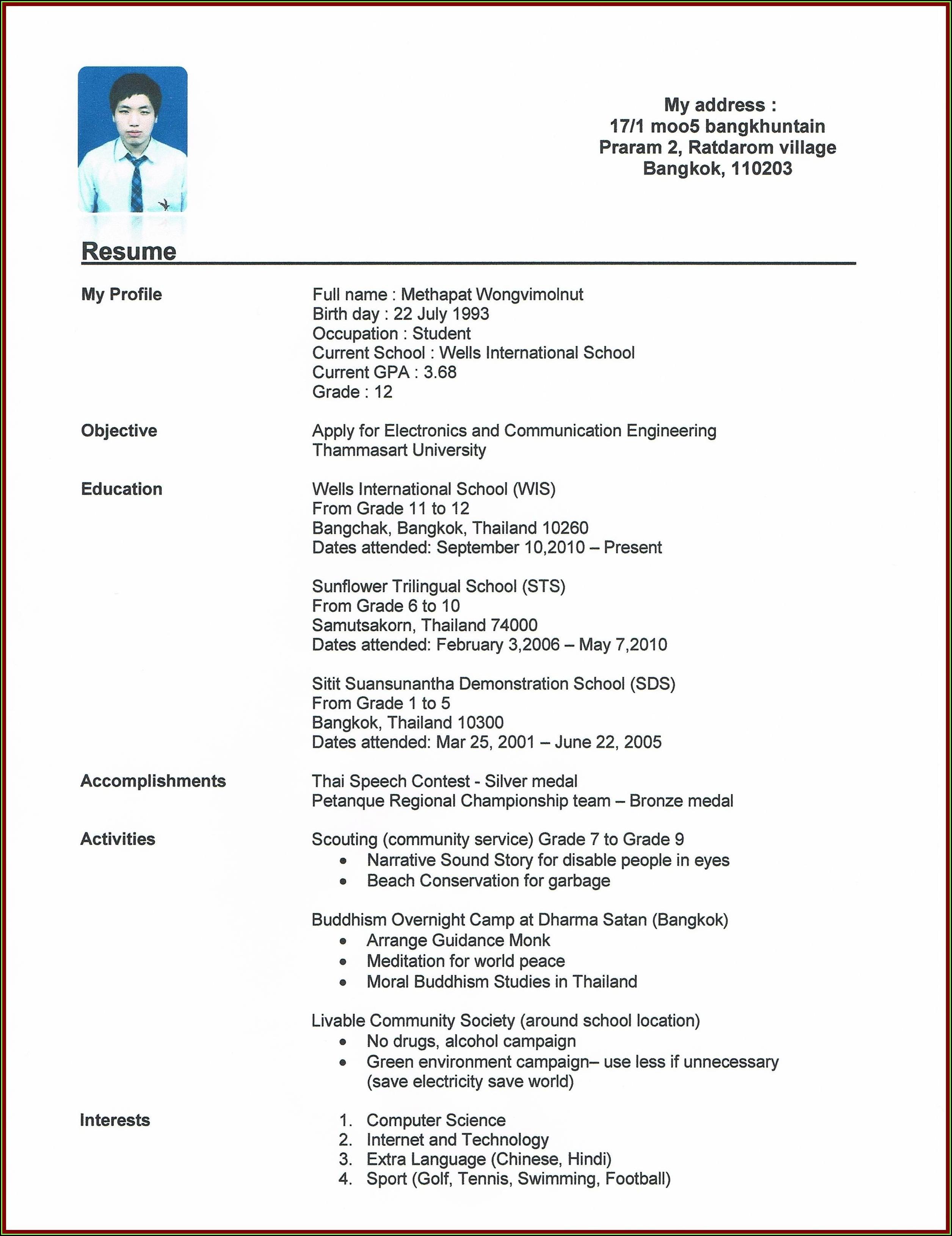 Free Resume Build Online
