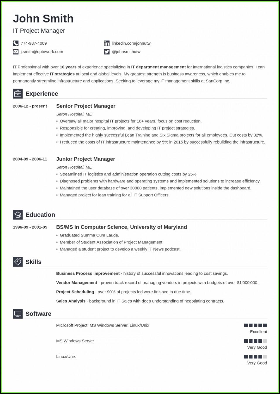 Free Resume Builder Online Printable