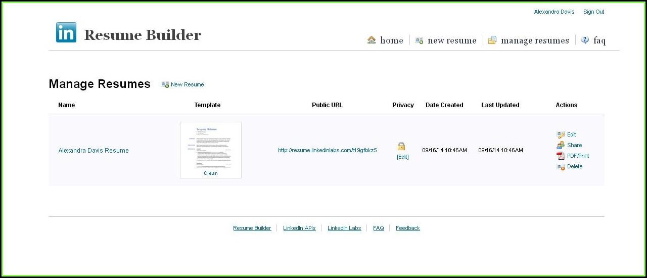 Free Resume Builder Template Pdf