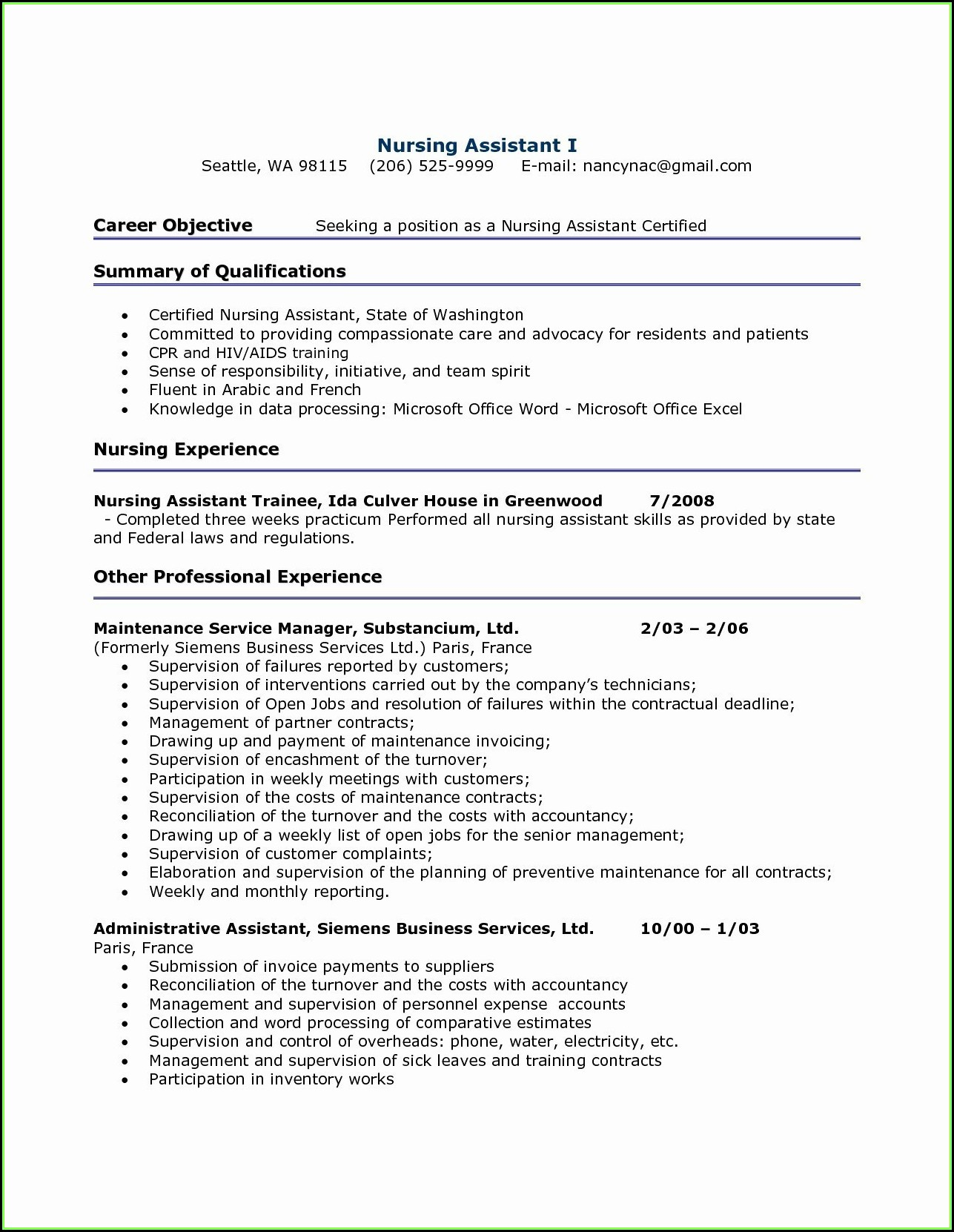 Free Resume Formatting Downloads