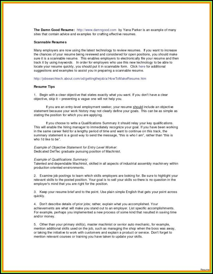 Free Resume Maker For Highschool Students