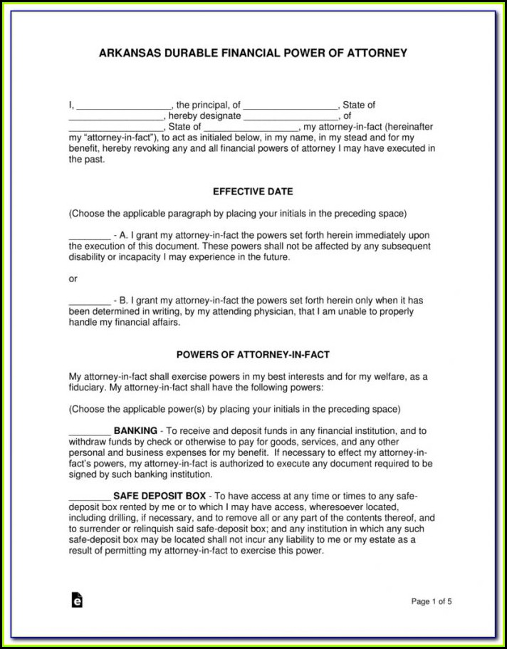 Free Revocation Of Power Of Attorney Form Texas