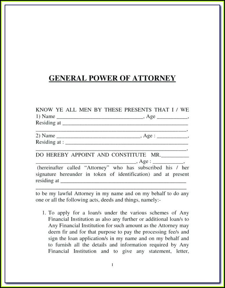 Free Revoke Power Of Attorney Form
