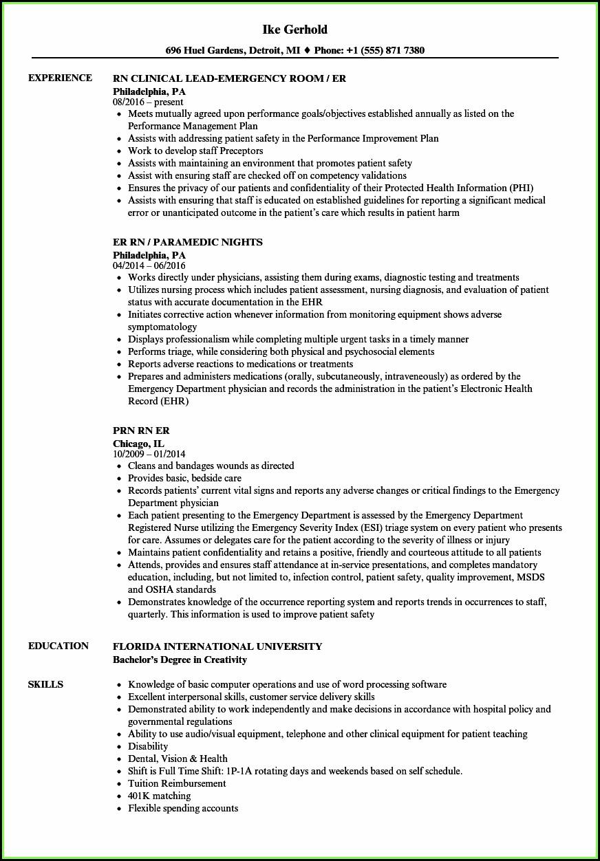 free rn resume builder
