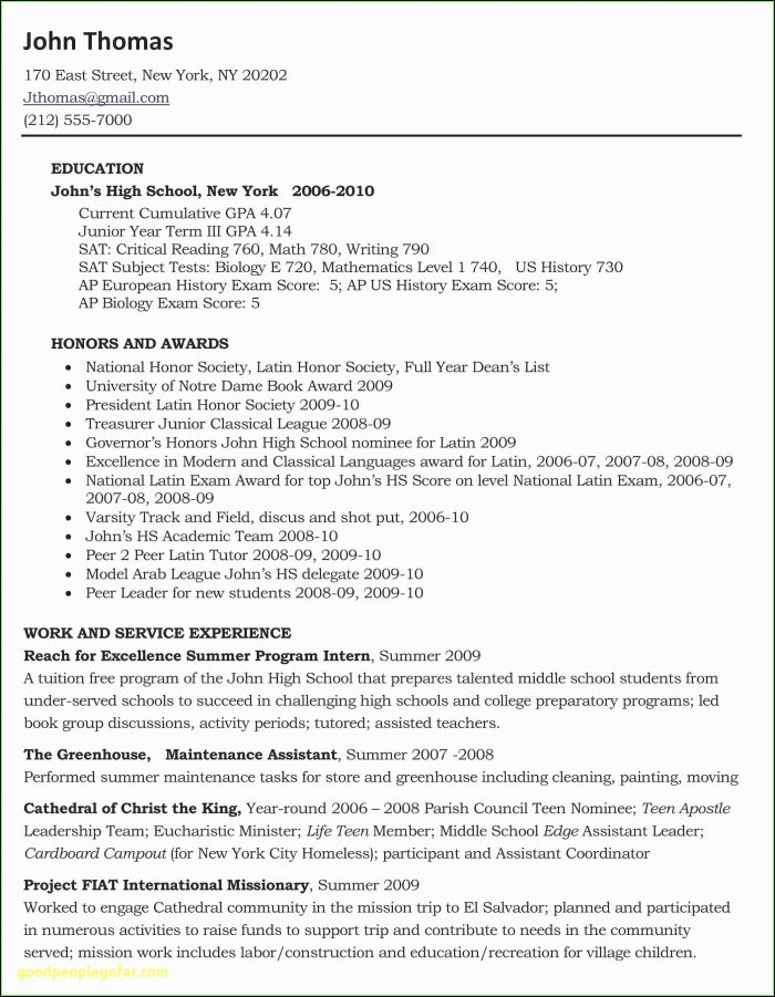 Free Sample Resume For Teachers Template