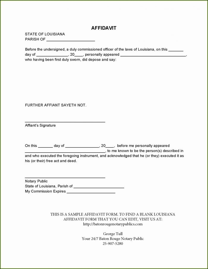 Free Small Estate Affidavit Form Nebraska