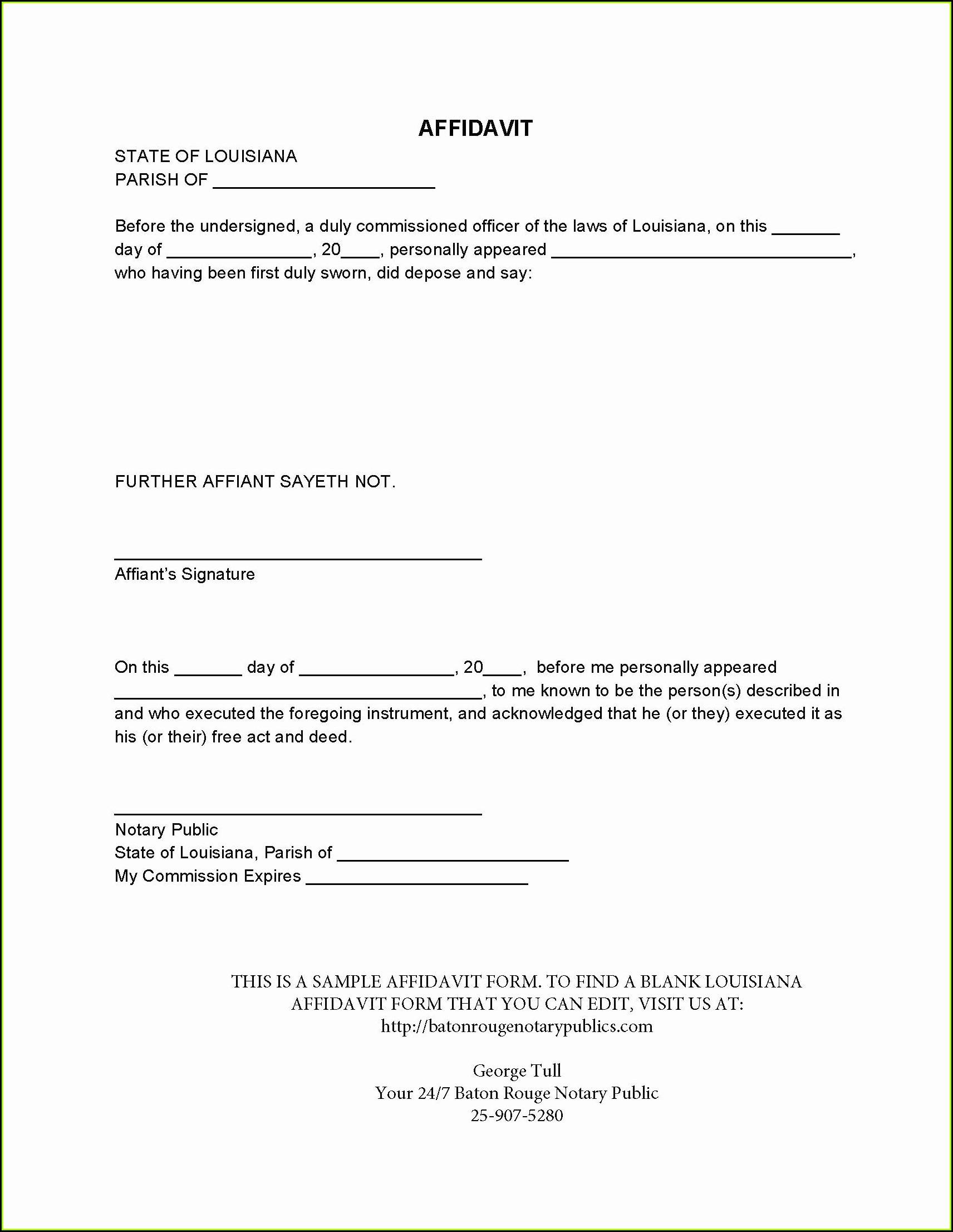 Free Small Estate Affidavit Form Nebraska