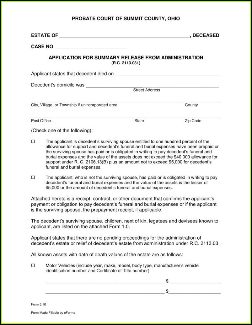 Free Small Estate Affidavit Form New Mexico