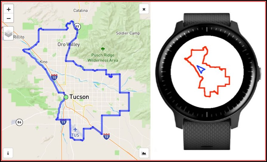 Garmin Watch Map App