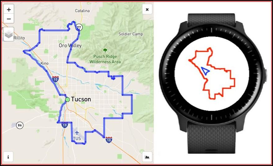 Garmin Watch Map App