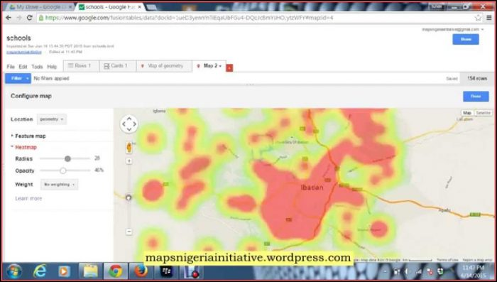 Geographic Heat Map Creator