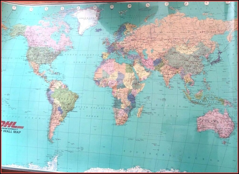Giant World Map Laminated