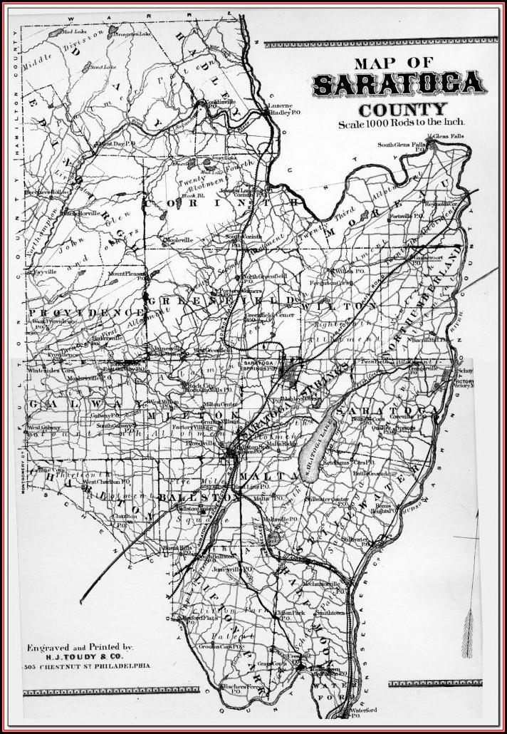Gis Map Saratoga County Ny