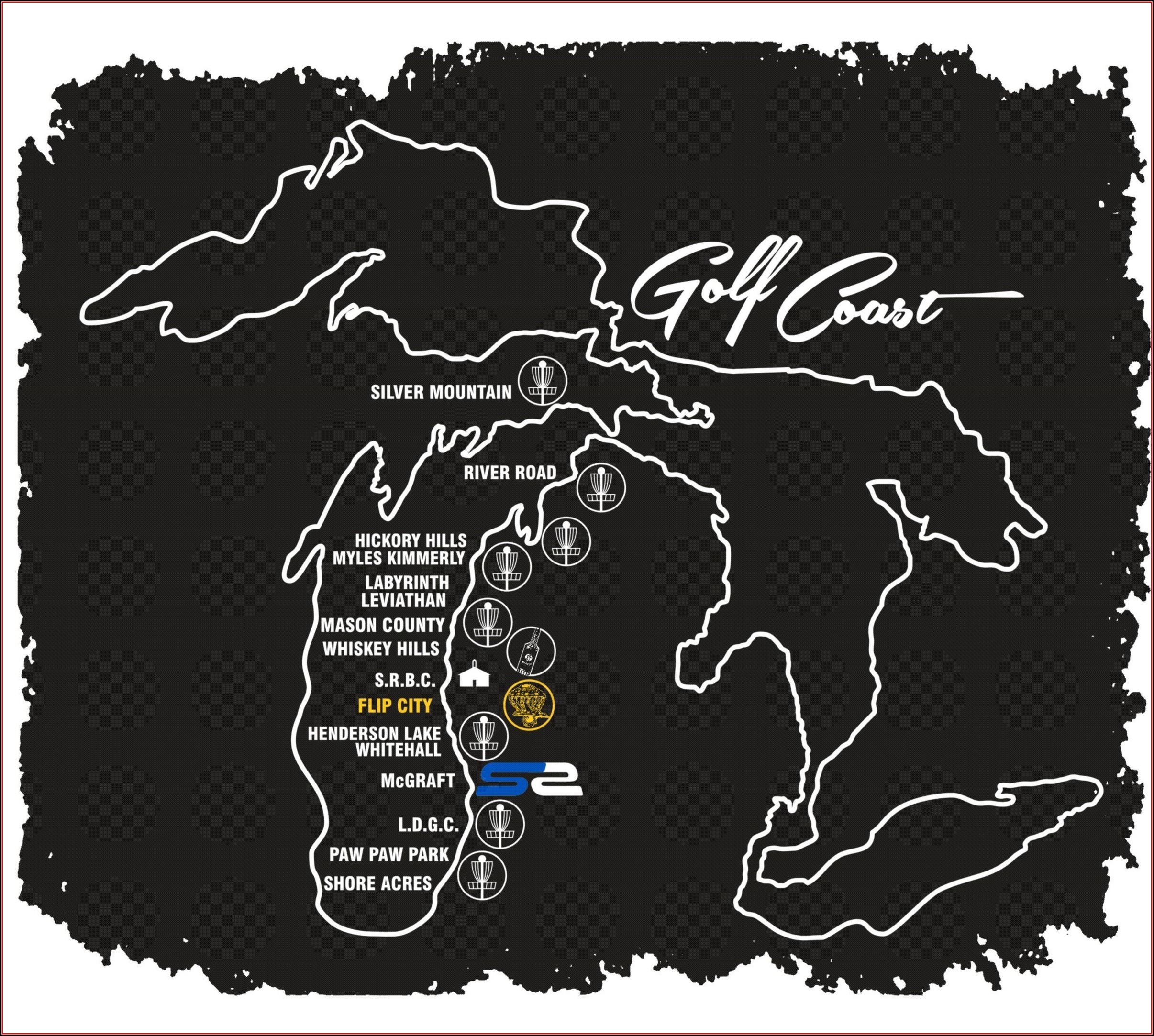 Golf Courses In Michigan Map