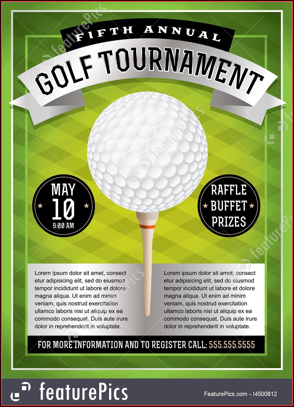 Golf Tournament Flyer Template Word