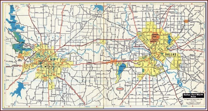 Google Map Of Dfw Metroplex