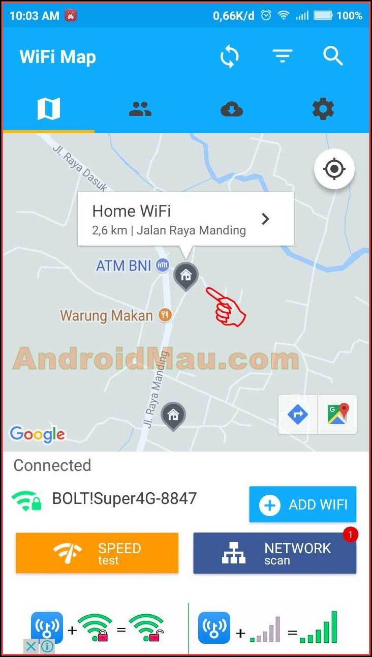 Google Map Wifi Hacker