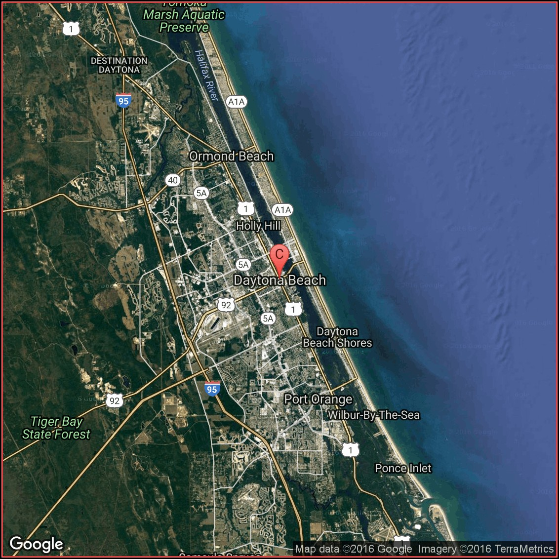 Google Maps Daytona Beach Hotels