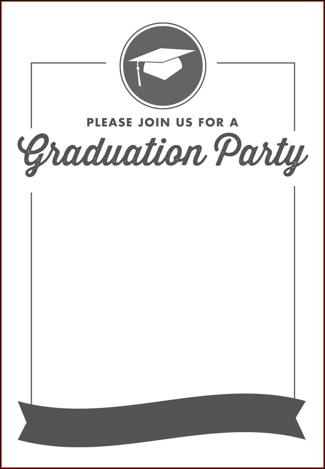 Graduation Party Invitations Template Free