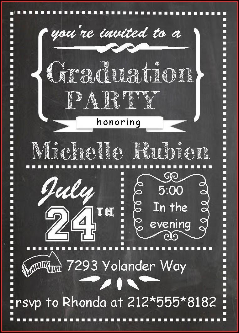 Graduation Party Invitations Templates Free