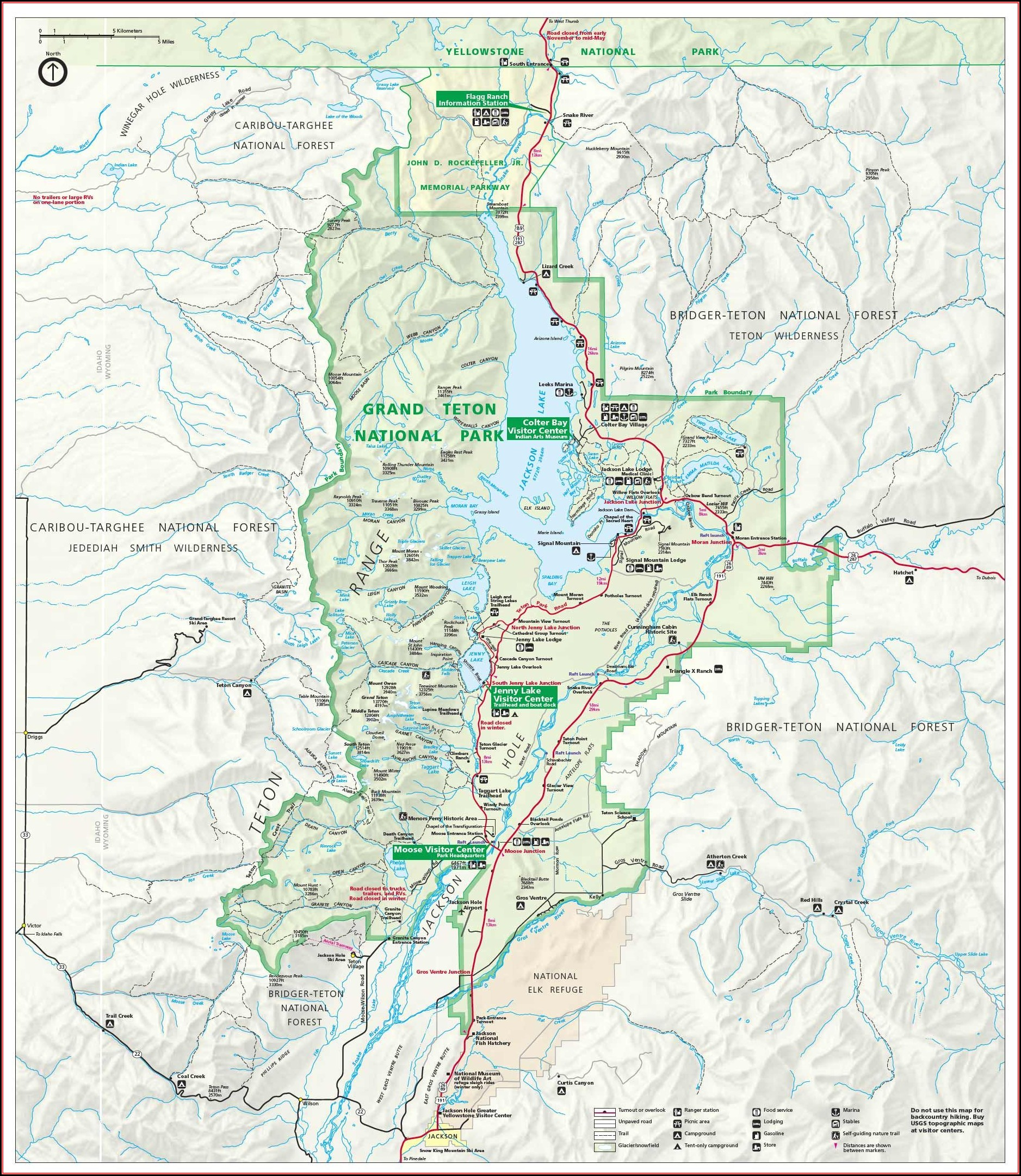 Grand Teton National Park Mapquest