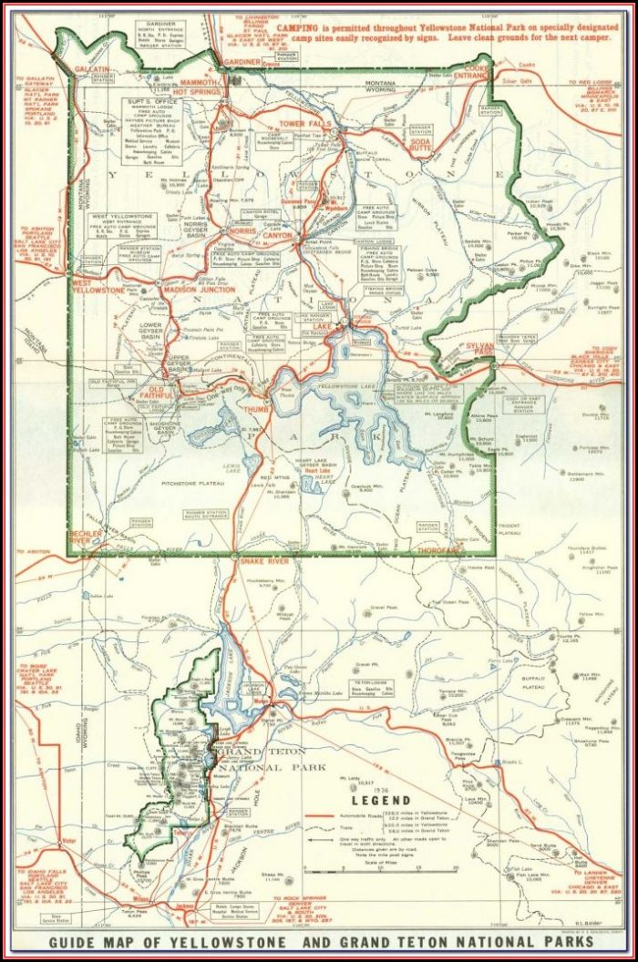 Grand Tetons National Park Camping Map